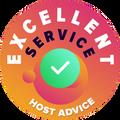 """Mēs veltījām savu laiku, lai personīgi un anonīmi pārbaudītu katra uzņēmuma klientu apkalpošanu.  """"Izcilības nozīme"""" tiek piešķirta tiem hostinga uzņēmumiem, kuri atbilst HostAdvice augstajiem klientu apkalpošanas standartiem, kas nozīmē, ka sniegtie pakalpojumi tiek nodrošināti ātri, efektīvi, saprotami un, kas galvenais – draudzīgi."""